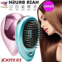 portable ionic hair brush anti tangle hairbrush