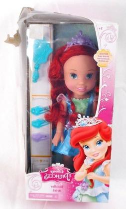 "Disney Princess 13"" Ariel Little Mermaid Toddler Doll Set Ti"