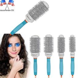 Professional Ceramic Round Barrel Hair Brush Iron Radial Com