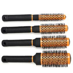 Professional Salon Ceramic Iron Comb Round Curl Hair Brush B