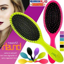 Professional Salon Detangling Hairstyles Hair Brush Soft Bri