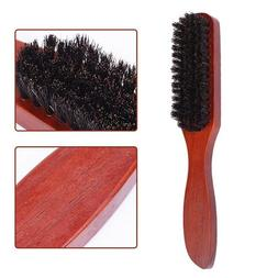 Pure Boar Bristle Hair Brush Beard Mustache Comb Long Wooden