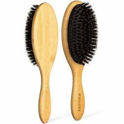 Pure Boars Hair Brushes for Women Mens Paddle Brush 100% Bam