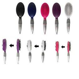 Qwik-Clean Hairbrush Easy Clean Brush 5 colors FREE SHIPPING