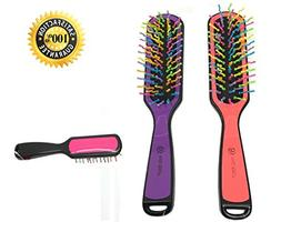 Professional Rainbow Bristles Detangling Hair Brush for Adul