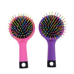 Pack of 2 Rainbow Volume Brushes Detangling Hair Brushes Hai