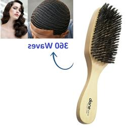 Reinforced Boar Bristle Wave Brush 360 Waves Thick Curly Wav
