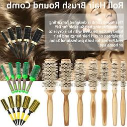 Roll Brush Round Hair Comb Salon Barber Wavy Curly Styling B