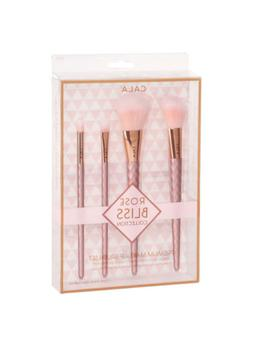 Cala Rose Bliss Premium Makeup Brush Set 4pcs Powder Eye Smu