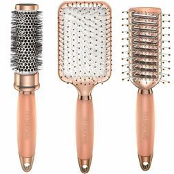 Lily England Rose Gold Hair Brush Set - Luxury Professional