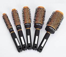 Round Barrel Hair Brush Nylon Bristles,Professional Salon St