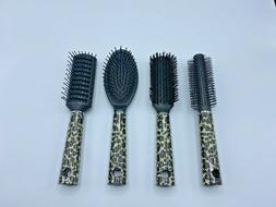 Round Boar Bristle Hair Brush With Nylon Pin Ceramic Blow Dr