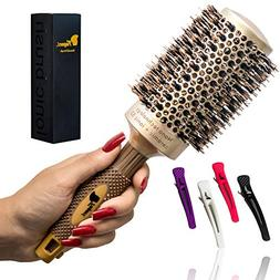 Fagaci Round Brush for Blow Drying with Natural Boar Bristle