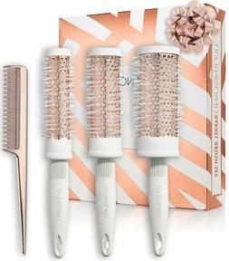 Round Brush Set -Blow Drying Barrel Hairbrush Set & Comb - W