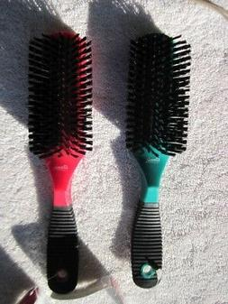 Annie Rubberized Soft Grip Hair Brush Luster Volume Correct