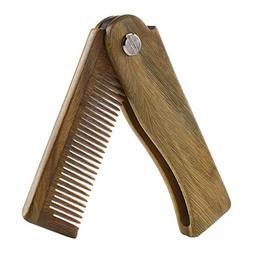 Onedor Sandalwood Fine Tooth Folding Brush Comb for Men Hair
