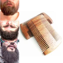 Sandalwood Hair Mustaches Brush Fine Coarse Teeth Beard Comb
