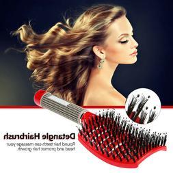 Scalp Massage Comb Bristle Curly Detangle Hair Brush Style T