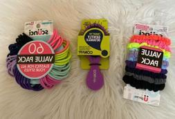 Scunci | Conair Lot Of 3 Elastics, Scrunchies, Travel Brush