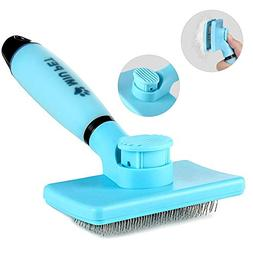 MIU PET Pet Self Cleaning Slicker Brush - Effectively Reduce