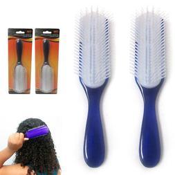 Set 2 Paddle Detangler Brush Women Men Kids Hairbrush Comb G