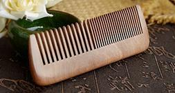 1 Set Combs Hairbrush Wooden Comb Natural Green Sandalwood S
