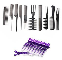 set hair brush comb salon