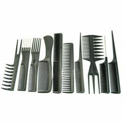 10Pcs Set Hair Styling Hairdressing Plastic Barbers Brush Co