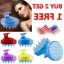 Silicone Scalp Shampoo Massage Brush Washing Massager Shower