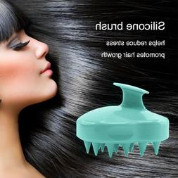 Silicone Shampoo Scalp Shower Body Washing Hair Massage Mass