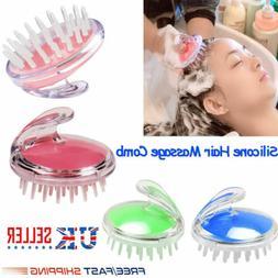Silicone Shampoo Scalp Shower Washing Hair Growth Massager B
