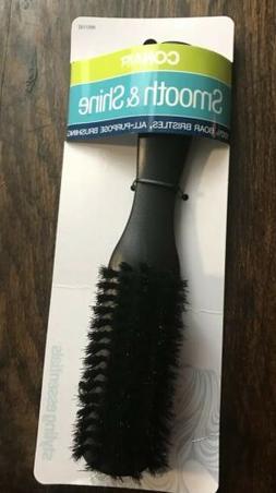 Conair Smooth & Shine 100% Boar Bristles All Purpose Black H