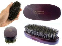 100% Soft Boar Bristle Palm Military Hair Brush with Real Wo