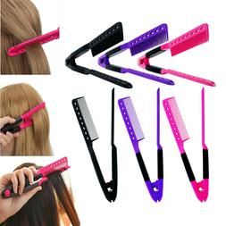 V TYPE Straightening Hair Comb Brush Flat Dryer Styling Tool