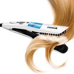 Steam Hair Straightener Fast Electri Smooth Brush Ceramic Ha