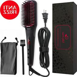 Hair Straightening Brush - Ceramic Heat Hot Ionic Hair Strai