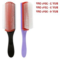 Hair Brush Cushion 9-Row Detangler Curl Define Wet Dry strai