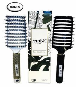 STYLING HAIR BRUSH Wet Dry Hair Detangler Curve Vented Boar