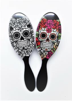 The Wet Brush Pro Detangle Hair Brush Sugar Skull Duo- Red &