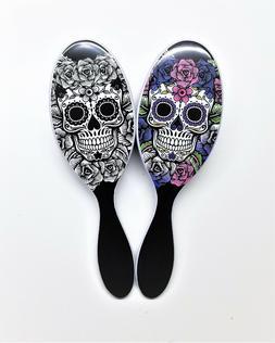 The Wet Brush Pro Detangle Hair Brush Sugar Skull Duo- White