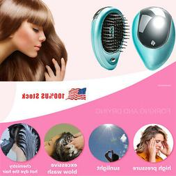 Travel Portable Electric Ionic Hairbrush Takeout Mini Hair B