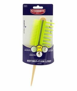 Kiss Triple Multi Function Comb Hair Brush Large Fine Teeth