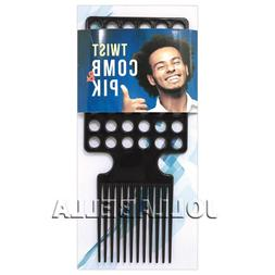 Twist Comb & Pik Afro Men's Kinky Styling Brush Dread Lockin