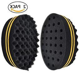 Set of 2 Two Sides Oval Shape Afro Braid Style Coil Wave Hai
