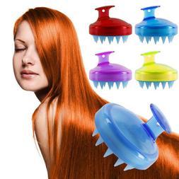 Unisex Scalp Shampoo Massage Brush Wash Massager Shower Head
