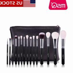 US 15PCs Pro Makeup Brush Set Foundation Powder Eyeshadow +