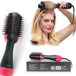 US Hair Dryer Volumizer One Step Curling Oval Brush Curler S