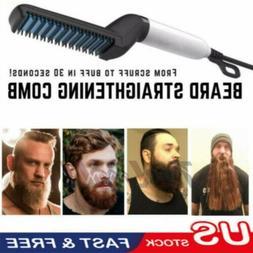 US Hair Straightener Brush Quick Beard Comb Curling Curler S