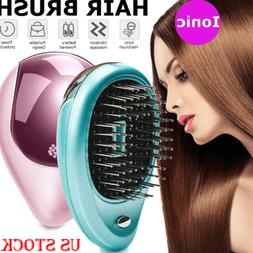 US Portable Electric Ionic Hairbrush Takeout Mini Ion Hair B