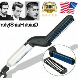 Quick Men Beard Straightener Multifunctional Hair Comb Curli